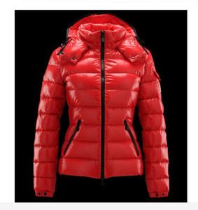 Yeni moda marka Sıcak kadın AŞAĞı CEKET KıSA COAT MAYA OUTWEAR Aşağı ceket ceket Kaban kırmızı ve siyah Kapşonlu coat