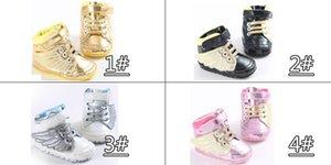 All'ingrosso prezzo di fabbrica winterautumn oro principessa Paillettes bowknot bambino scanvas confortevole scarpe casual per bambini bambino