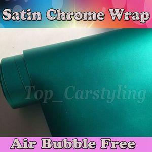 Envoltura de vinilo metálico de Tiffany con burbuja de aire, menta, mate y mate Car Wrap Film styling film 1.52 * 20M / rollo (5 pies x 66 ft)
