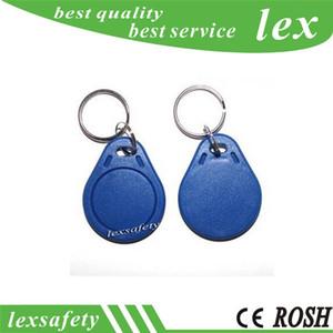 100 pz / lotto 125 khz scrivibile scrivibile Keytag ISO11785 card ABS RFID tag chiave T5577 / T5557 telecomando portachiavi tag con anello