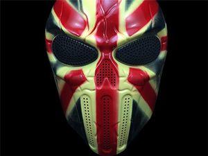 Gros-Nouveau HOT Full Face Protection Skull Cover Masque Extérieure Tactique Gear Gear CS Protection
