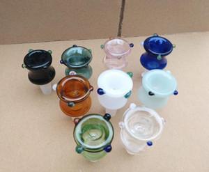 Farbe neue konkave Blase Kopf, Großhandel Glas Bongs, Ölbrenner Glas Wasserleitungen, Rauchrohr Zubehör