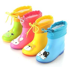 2019 Yeni Yüksek Kalite marka çocuk rainboot çocuklar kauçuk yağmur çizme Ayakkabı su geçirmez wellies su ayakkabı botla çocuk kısa rainboots
