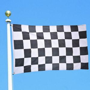 90 * 150 cm 3 * 5ft Autorennen Flagge Schwarz und Weiß Plaid Banner Racing Checkered Flaggen für Motorsport Racing Wohnkultur
