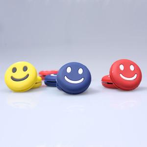 3PCS Lächeln FaceVibration Dämpfer-Stoßdämpfer für Tennis Badminton-Schläger-Silikon 3PCS Farbe gelegentlich