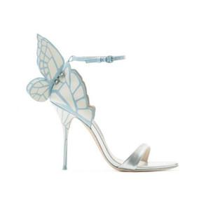 2017 neue schuhe frau zurück schmetterling sandalen sweet chic high heels designer mujer sandalen seite knöchelriemen sexy frauen schuhe plus