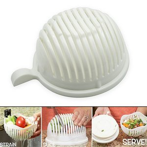 Hot Sale White Salad Bowl In 60 Second Maker Healthy Fresh Salads Made Easy Salad Cutter PP Bowl Tools