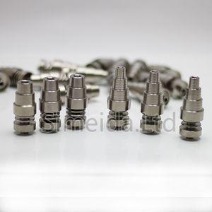Универсальный 6 в 1 Титана ногтей 10/14/18 мм женский и мужской Domeless ногтей Титана карбюратор крышка