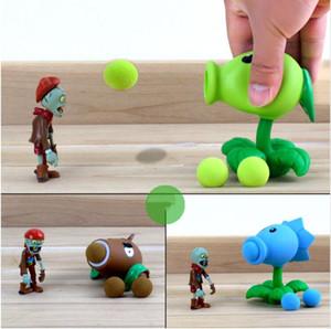 PVZ Bitkiler vs Zombies Peashooter PVC Action Figure Model Oyuncak Hediyeler Oyuncaklar Çocuklar Için Yüksek Kalite Brinquedos, OPP TORBA içinde
