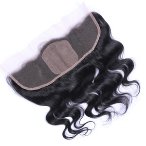 9A Peruvian Body Wave Silk Base Frontal Hair Free Middle 3 Part Lace Frontal With Baby Hair 13x4 Lace Frontal With Silk Base
