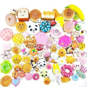 Kawaii Squishy 30 stücke PU Nette Reizende Karikatur Anhänger Kawaii Squishy Simulation Brot Lebensmittel Squishy Super Schlüsselanhänger Kindspielzeug Dekompression Spielzeug