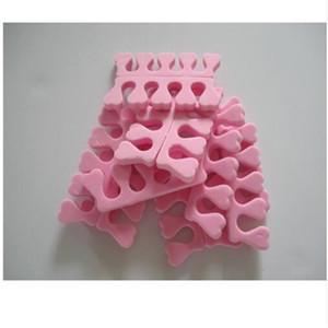 All'ingrosso-2017 Rosa Colore 20 pz (10 paia) Punta Separatore Cuore Finger Foot Sponge Forma Morbida Gel UV Nail Art Salon Manicure Strumenti Pedicure