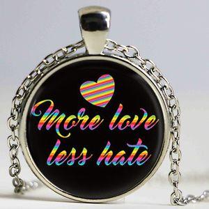 Più Love Less Hate Collana LGBT Jewelry LGBT collier, arcobaleno, stesso matrimonio omosessuale, collana di choker Gay Pride