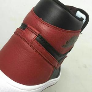 Con OG Box 1 Classic 1s Zapatillas de baloncesto criadas altas zapatillas de baloncesto OG Factory Version Michael Sports Only