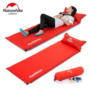 Großhandel-NatureHike Camping Mat 1 Person automatische aufblasbare Kissen feuchtigkeitsbeständige Zeltmatte Spleißen Luftmatratzen