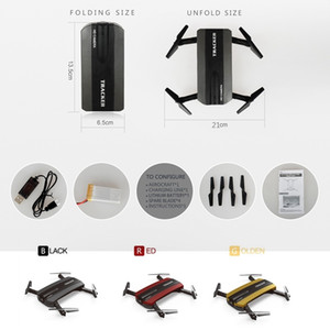 Selfie Drone Tracker Foldable Mini Rc Pocket Drone with Wifi FPV Camera Altitude Hold Headless Mode RC Helicopter
