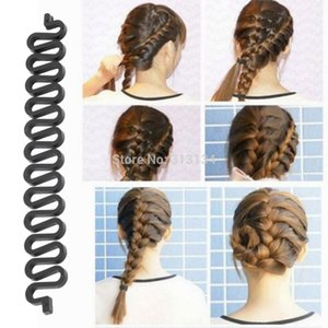 Wholesale- French Hair Roller With Hook Magic Twist Styling Braiding Tool Bun Maker