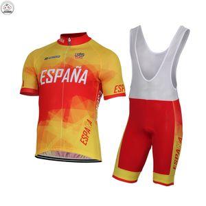 ESPANA YENI Özelleştirilmiş 2017 İSPANYA Klasik MOUNTAIN YOL YARIŞ Takım Bisikleti Pro Cycling Jersey Setleri Önlük Şort JIASHUO Ropa CICLISMO MAILLOT