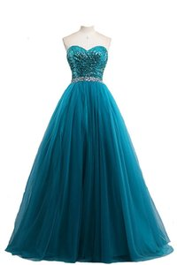 2018 Real Photo Long Sweetheart Sequins Ball Gown Quinceanera Dresses with Tulle Beaded Plus Size Prom Pageant Debutante Party Gown BM11