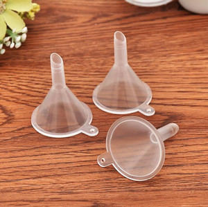 Pequeno Perfume Funis plástico Atacado funis para Perfume Líquido Óleo Essencial de enchimento vazio Ferramenta Bottle Packing
