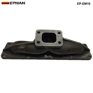EPMAN- Cabezal de colector de escape turbo longitudinal de hierro fundido T3 / T25 para VW VAG 1.8 1.8T 20V EP-EM10