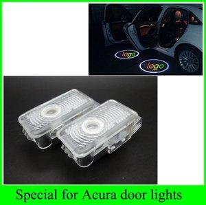 2pcs 2016 mais novo 1 conjunto de Honda Acura MDX ZDX TL RLX Automobiles carro fonte de luz porta de boas-vindas LED acende projetor laser sombra logotipo fantasma