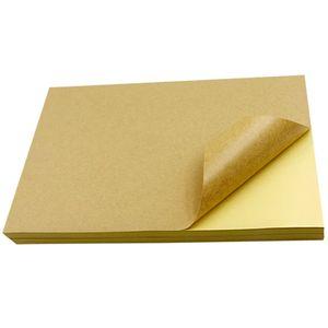 Papier blanc A4 adhésif autocollants pour papier kraft imprimante Étiquettes autocollant blanc A4 autocollants argent mat