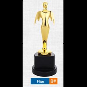 1 pcs O Trophy Golf esporte coração shap amante estrelas banhado a ouro de metal troféu 22.5 cm de altura não magnética medalha emblema presente DHL grátis