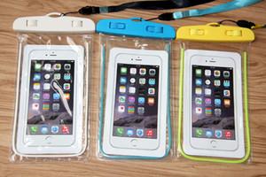 واضح للماء الحقيبة حالة الغطاء الجاف للكاميرا الهاتف المحمول أكياس ماء مضيئة ل iphone samsung htc huawei free shipping 50pcs