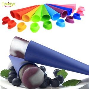 Delidge 20шт Popsicl формы силиконовые разноцветные ледяные пробки прессформы DIY летом мороженица поп льда прессформы случайный цвет