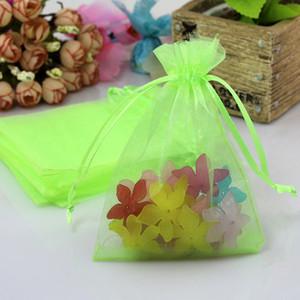 Sıcak satış organze hediye çanta Christma için hediye çanta ambalaj yeşil renk küçük poşetler takı şeker torbaları 1000pcs / lot 7 * 9cm aksesuarları ışık