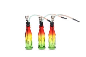 Creativo tubo di fumo del fumo tubi di bottiglia di Coca cola di vetro unico popolare, bong di vetro all'ingrosso, accessori di narghilè di vetro, consegna casuale di colore,
