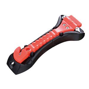 2 Em 1 Segurança Do Carro Antiderrapante Hammer Seatbelt Cortador De Classe De Emergência / Janela Soco Disjuntor Auto Resgate Disaster Escape Life-Saving Hammer ferramenta
