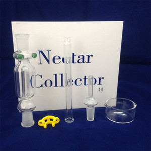 Nectar collector 10mm 14mm 18mm Happywater pipes Nectar Collector Kit with clip Mini Glass pipe joint DHL free to USA