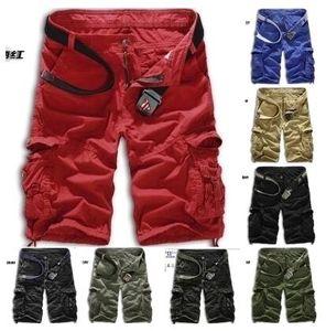 Atacado- 2017 Cargo Shorts Men venda quente Casual camuflagem verão marca de roupas de algodão moda masculina exército trabalho Shorts Men Plus Size 29-40
