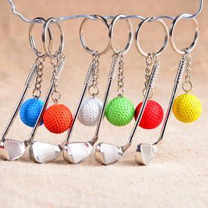 Новый мяч для гольфа брелок мяч для гольфа стержень брелок брелок цинковый сплав металлический шар брелоки гольф-клубы кольцо брелок стержень