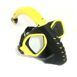 Máscaras de mergulho de cara cheia de estilo atacado-alienígena HD Anti nevoeiro lente óculos de natação subaquática Freediving adulto Snorkel Set