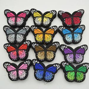 120pcs Eisen auf Flecken nähen gestickter Trim Standard-Schmetterling Stoff Aufkleber für DIY Nähen Handwerk