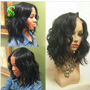 Court Curly Full Lace Perruque Eau Vague Avant de Lacet Perruques Cheveux Humains Perruques Brésiliennes Pour Les Femmes Noires Ondulées