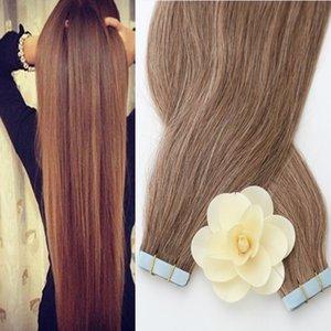 Los artículos superventas venden al por mayor el pelo humano de la extensión del pelo de la cinta de la trama de la piel de Remy de la PU del 100% de la Virgen