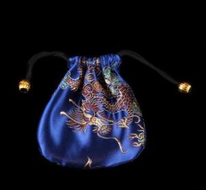 Großhandel billig New 100PC chinesische handgemachte Mischung färbt Silk Beutel-Geschenk-Juwel Tasche Beutel