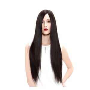 9A seda Haute luxo Moda peruca Glueless Cabelo Humano Brasileiro 100% Peruca Cheia Do Laço yaki reta cheia do laço peruca virgem com a cor do bebê 2 #