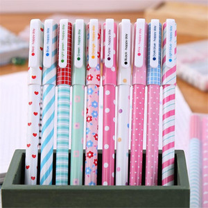 50 pçs / lote cor gel caneta kawaii papelaria flor coreana canetas escolar papersaria papel de escritório material material escolar