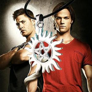 Einzigartige Pentagramm Form Supernatural Dean Anti-Besitz Symbol Legierung Halskette Schmuck Anhänger Halsketten Fashion Womens Chain Jewellry