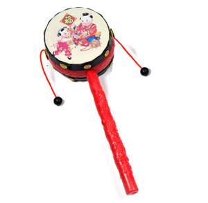Wholesale brinquedos para crianças, boa qualidade tambor de onda auspicioso, chocalho do bebê