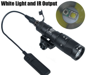 Tactical SF M300V-IR Scout Light LED Gun Light White Light and IR Output Black
