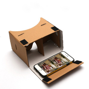 "Ultra Clear DIY Google Cardboard 3D qualidade 3D VR óculos de realidade virtual para 5.0"" de tela com headstrap"