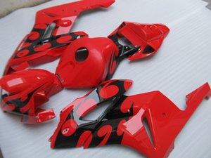 혼다 CBR1000RR에 대한 ABS 플라스틱 fairings 04 05 빨간색 검은 사출 오토바이 페어링 키트 CBR1000RR 2004 2005 OT42