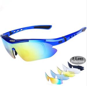 Pas cher Meilleur Polarized Cycling Glasses 5 Lens Lunettes De Vélo Lunettes UV400 Sport En Plein Air Lunettes De Soleil