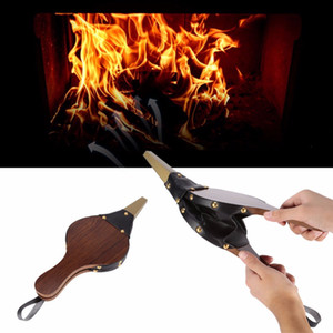 New Air Volume Retro Pure Handmade Wood Fireplace Blower Outdoor Manual Effort To Facilitate The Tool